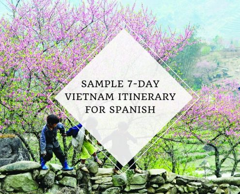 sample 7-day Vietnam travel itinerary for Spanish - Vietnam visa online